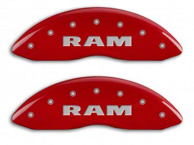 MGP Red Caliper Covers w/ RAMHEAD Logo - Front & Rear (02-05 RAM 1500, Excluding SRT-10)
