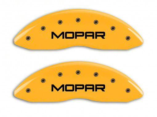 MGP Yellow Caliper Covers w/ MOPAR Logo - Front & Rear (11-18 RAM 1500)