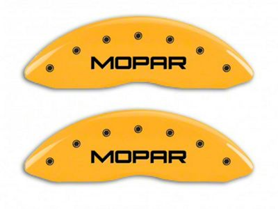 MGP Yellow Caliper Covers w/ MOPAR Logo - Front & Rear (06-10 RAM 1500, Excluding SRT-10)