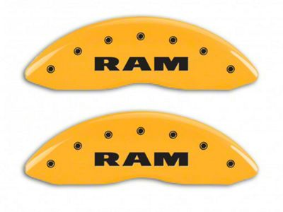 MGP Yellow Caliper Covers w/ RAMHEAD Logo - Front & Rear (04-05 RAM 1500, Excluding SRT-10)
