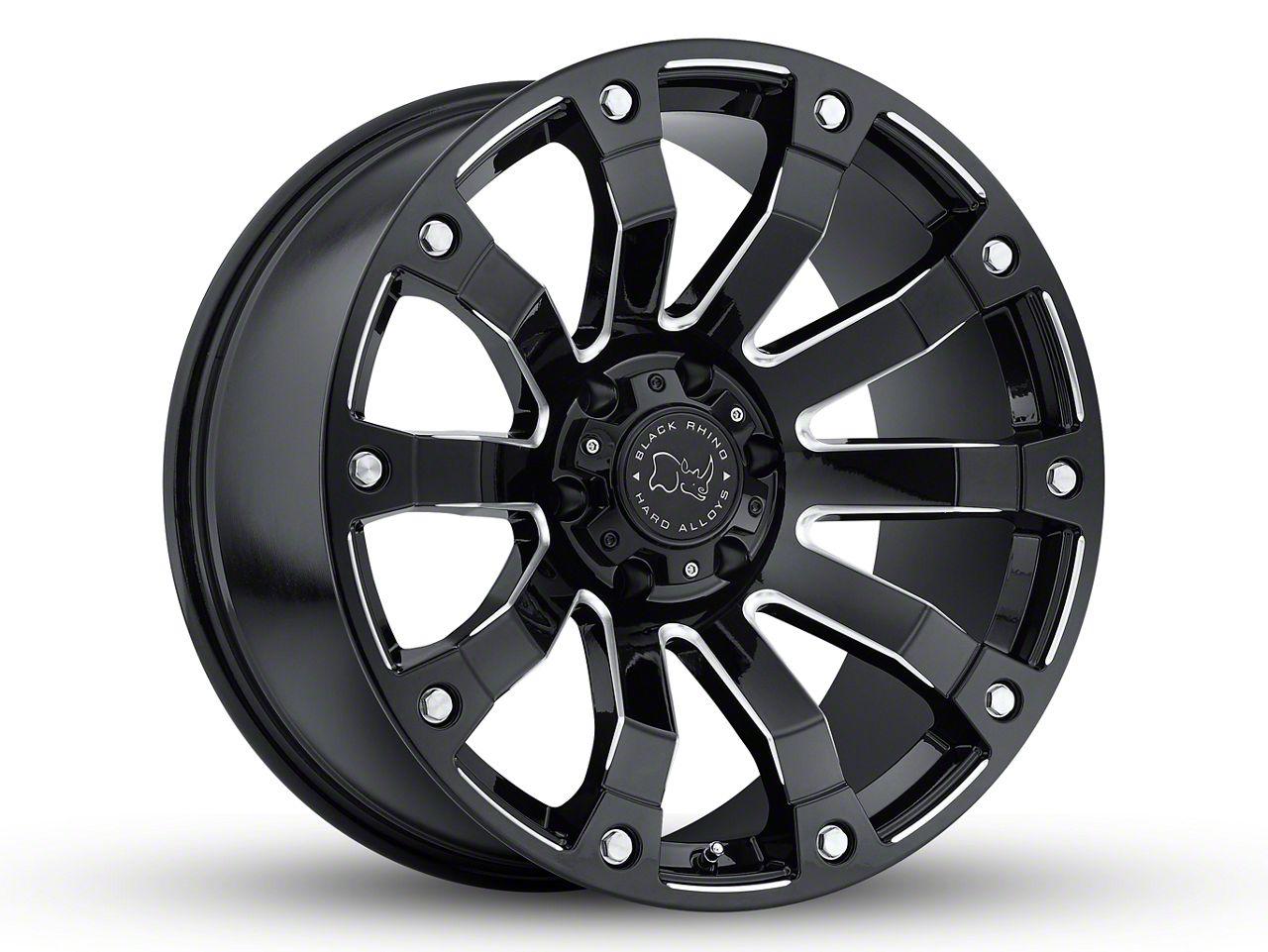 Black Rhino Selkirk Gloss Black Milled 5-Lug Wheel - 20x9 (02-18 RAM 1500, Excluding Mega Cab)