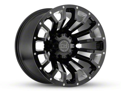 Black Rhino Pinatubo Gloss Black Milled 5-Lug Wheel - 20x9.5 (02-18 RAM 1500, Excluding Mega Cab)
