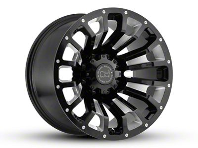 Black Rhino Pinatubo Gloss Black Milled 5-Lug Wheel - 17x9.5 (02-18 RAM 1500, Excluding Mega Cab)
