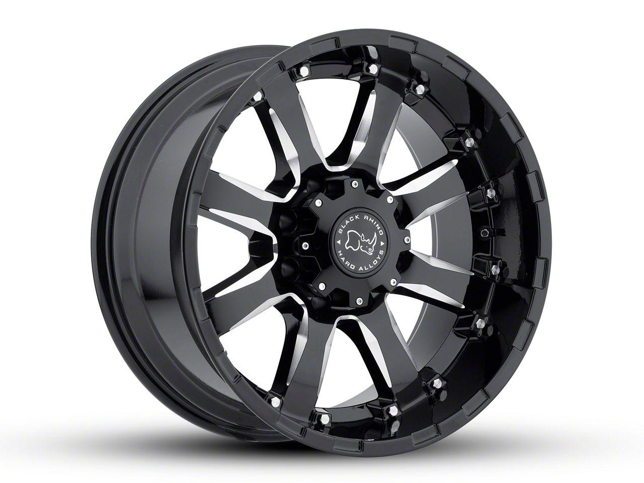 Black Rhino Sierra Gloss Black Milled 5-Lug Wheel - 20x9 (02-18 RAM 1500, Excluding Mega Cab)