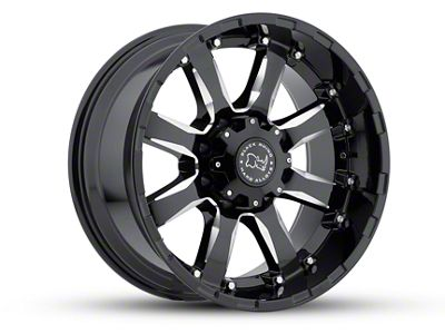 Black Rhino Sierra Gloss Black Milled 5-Lug Wheel - 18x9 (02-18 RAM 1500, Excluding Mega Cab)