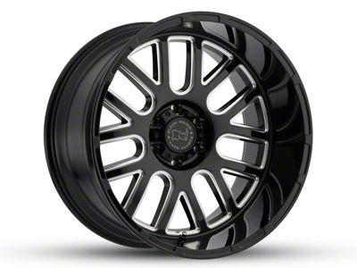 Black Rhino Pismo Gloss Black Milled 5-Lug Wheel - 20x9.5 (02-18 RAM 1500, Excluding Mega Cab)