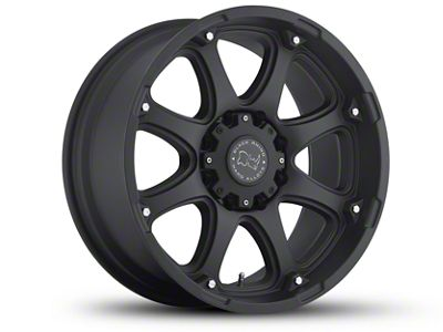 Black Rhino Glamis Matte Black 5-Lug Wheel - 17x9 (02-18 RAM 1500, Excluding Mega Cab)