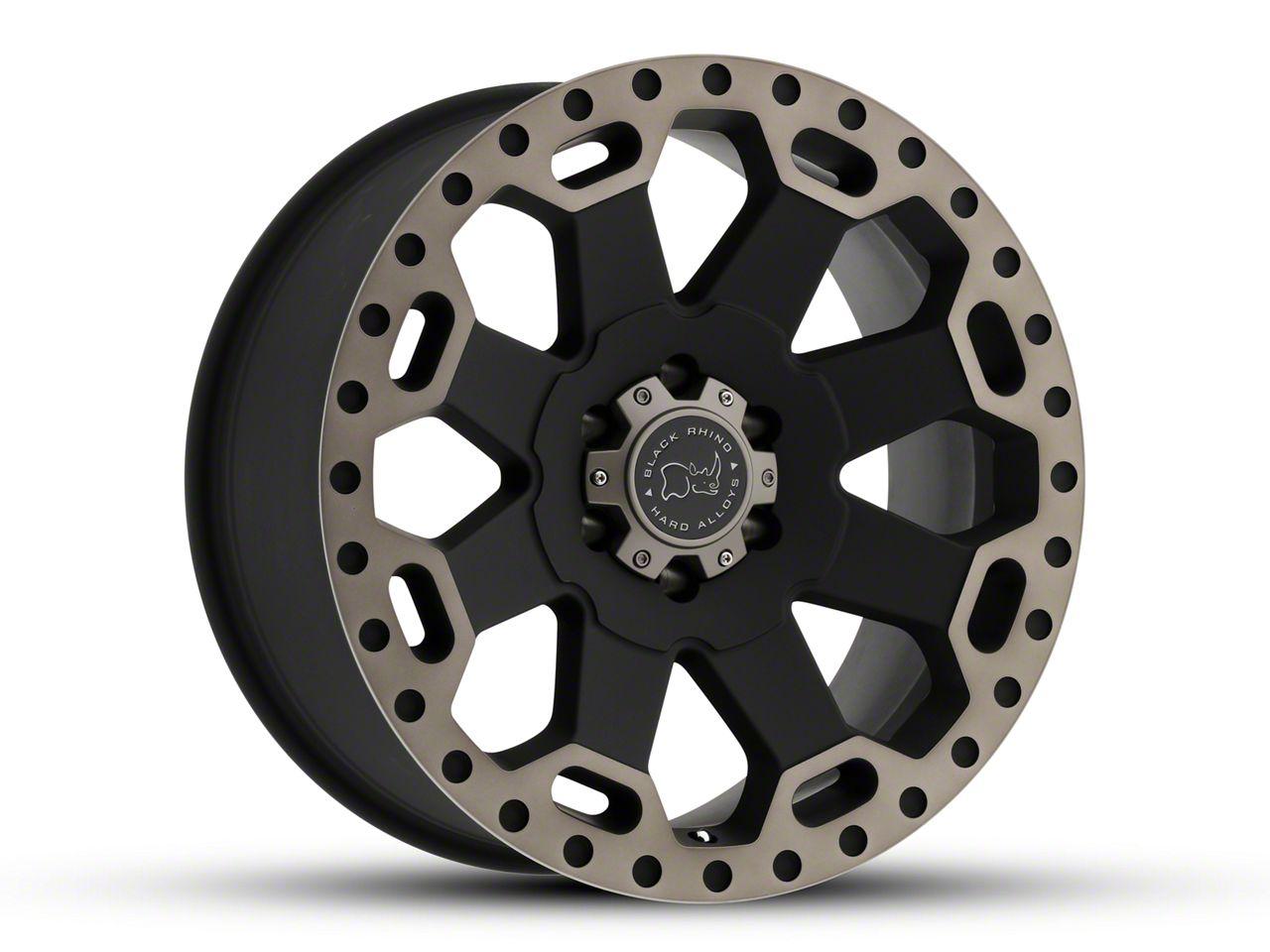 Black Rhino Warlord Matte Black Machined 5-Lug Wheel - 17x9 (02-18 RAM 1500, Excluding Mega Cab)