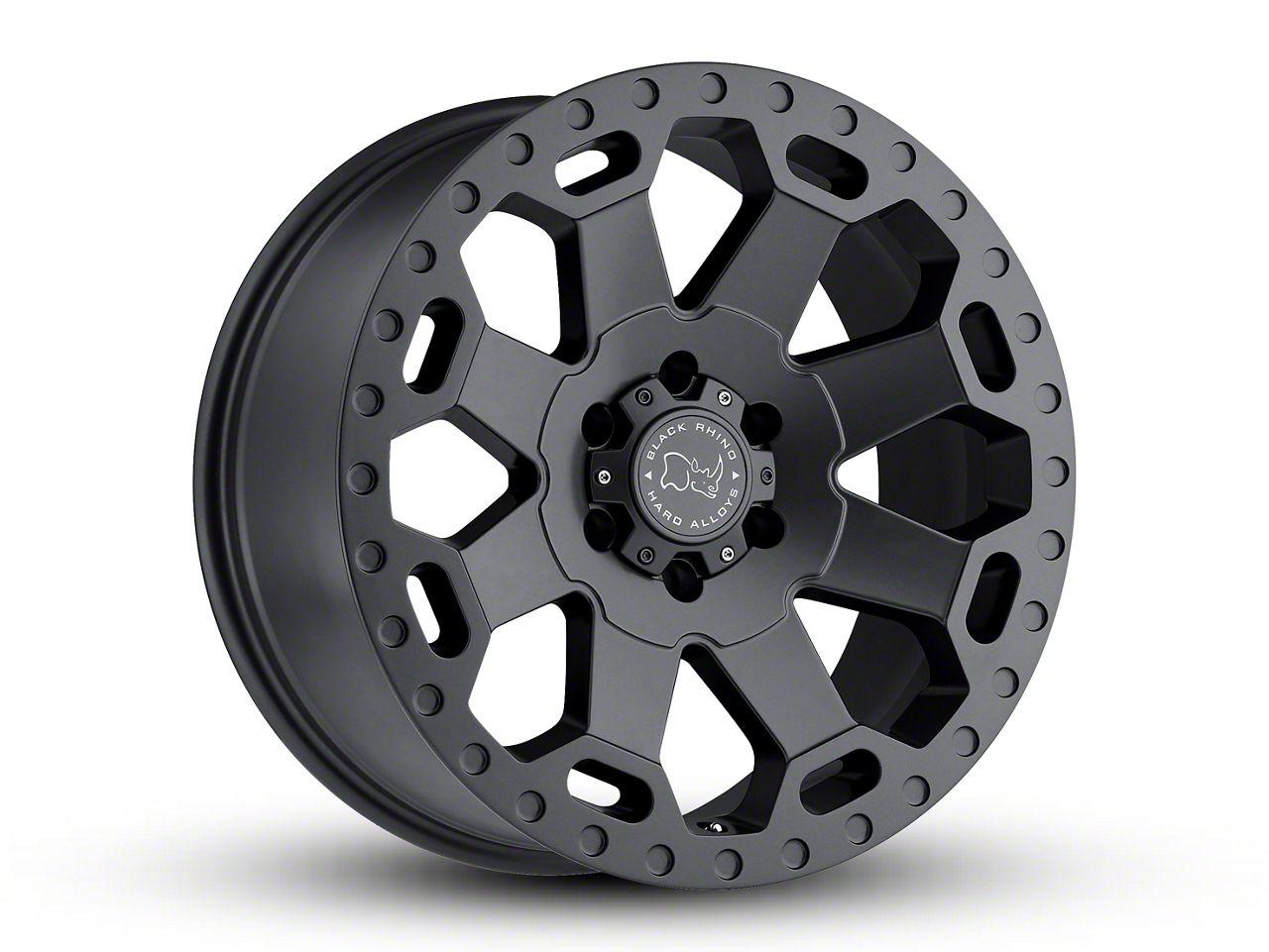 Black Rhino Warlord Matte Gunmetal 5-Lug Wheel - 17x9 (02-18 RAM 1500, Excluding Mega Cab)