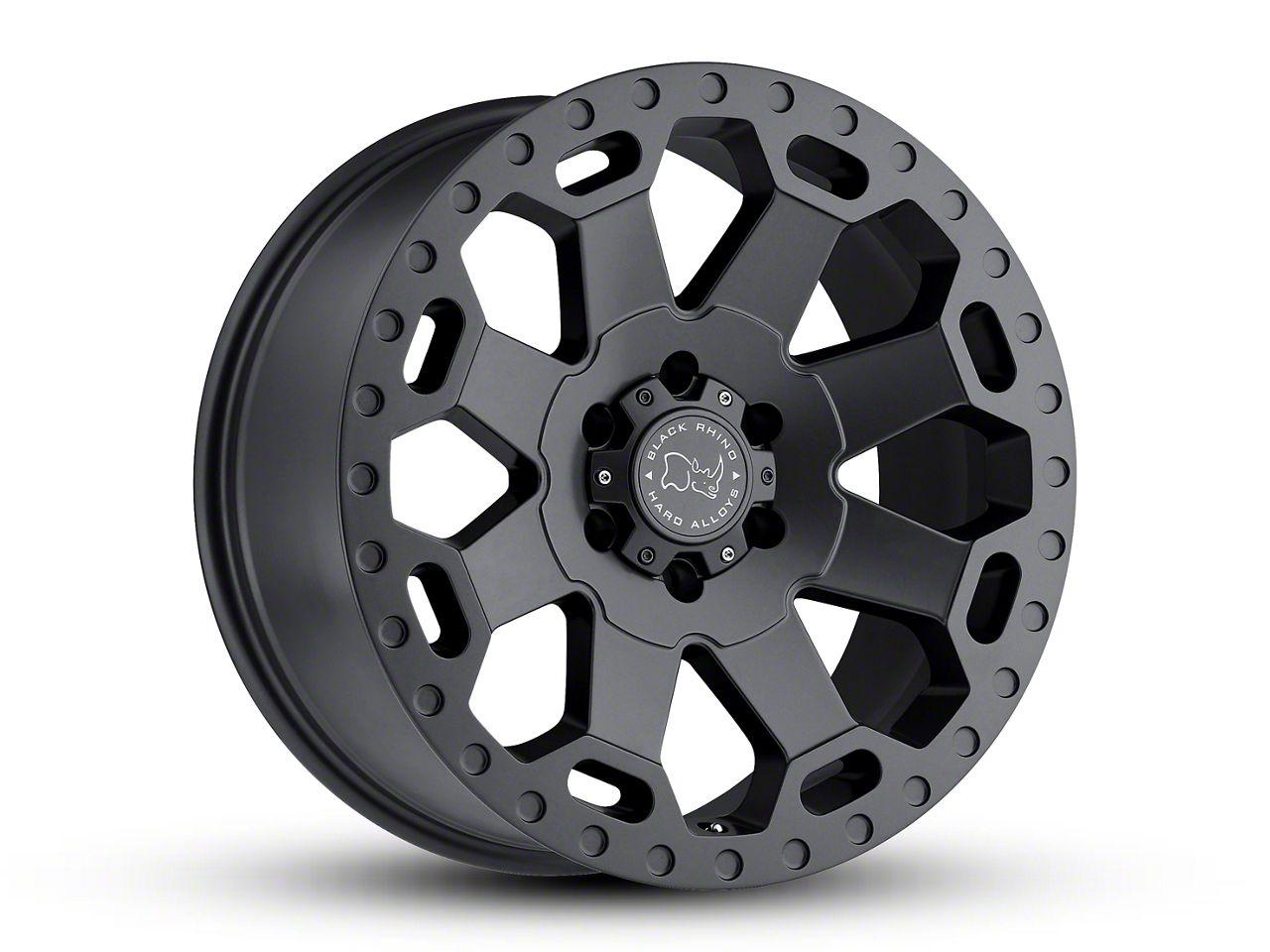 Black Rhino Warlord Matte Gunmetal 5-Lug Wheel - 18x9 (02-18 RAM 1500, Excluding Mega Cab)