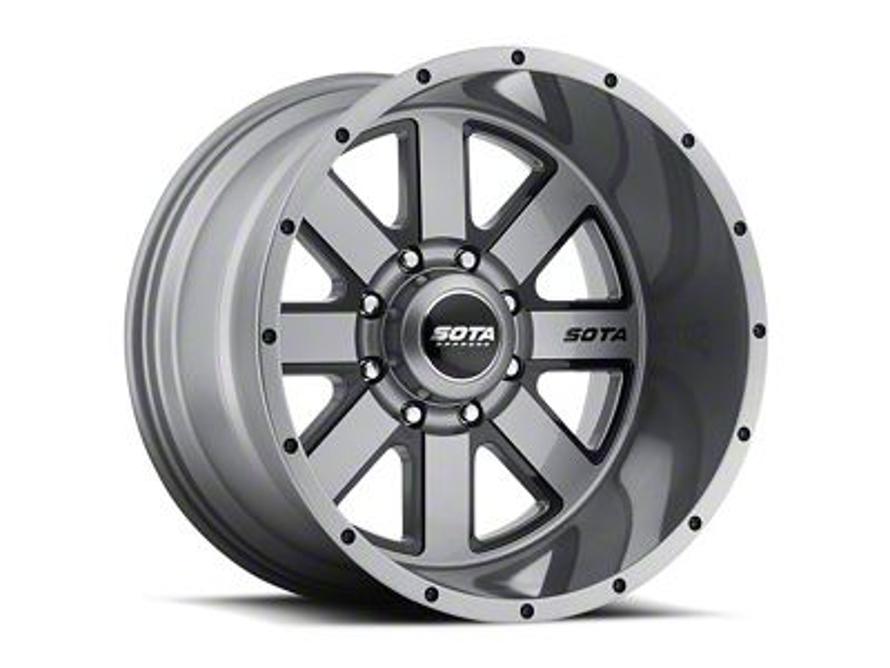 SOTA Off Road A.W.O.L. Anthra-Kote Black 8-Lug Wheel - 20x10 (06-08 RAM 1500 Mega Cab)