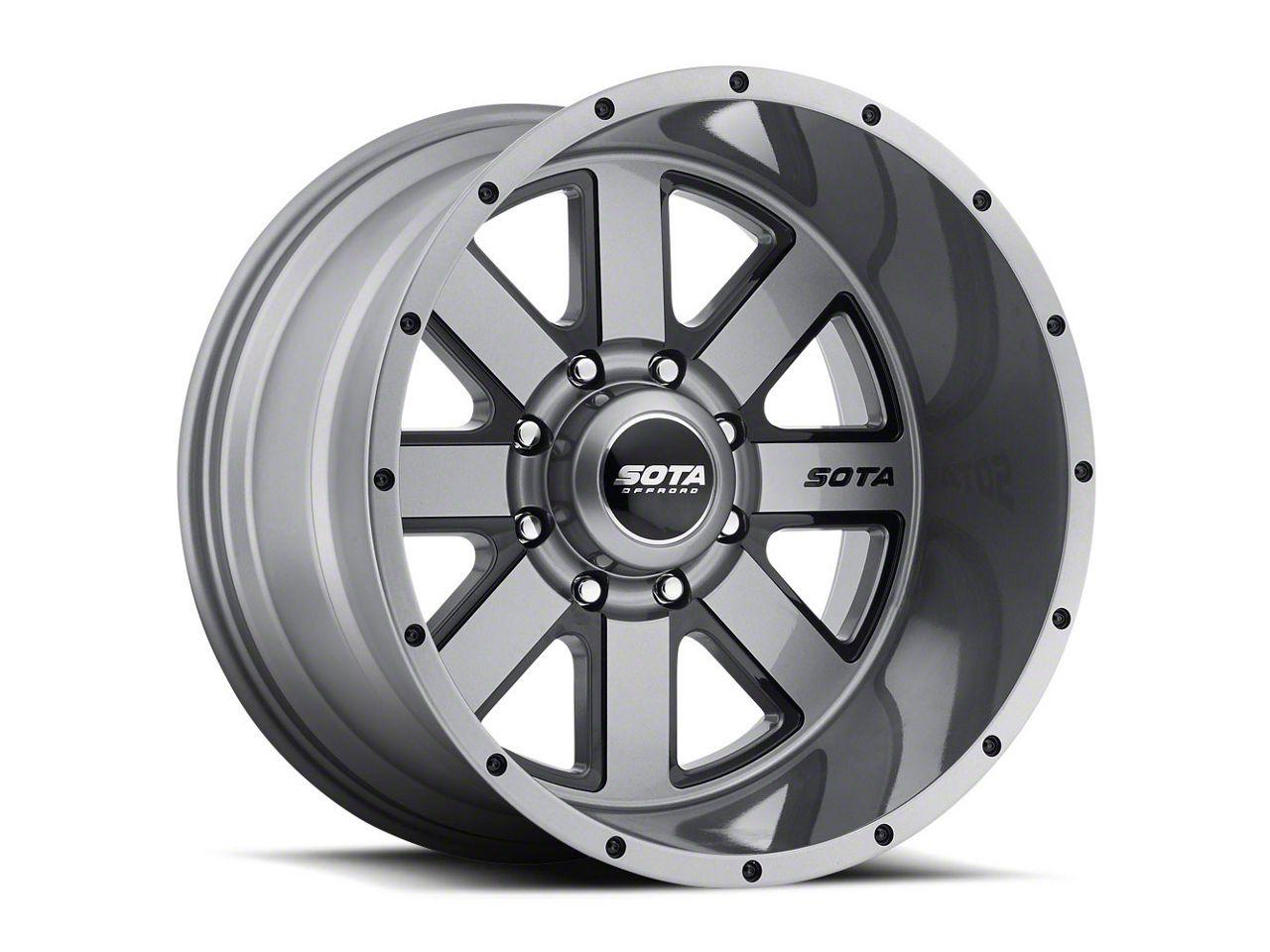 SOTA Off Road A.W.O.L. Anthra-Kote Black 8-Lug Wheel - 20x12 (06-08 RAM 1500 Mega Cab)