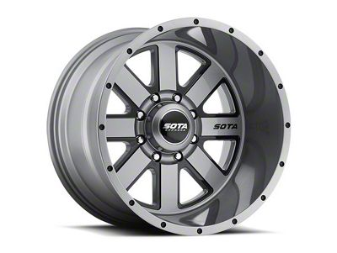 SOTA Off Road A.W.O.L. Anthra-Kote Black 8-Lug Wheel - 22x12 (06-08 RAM 1500 Mega Cab)