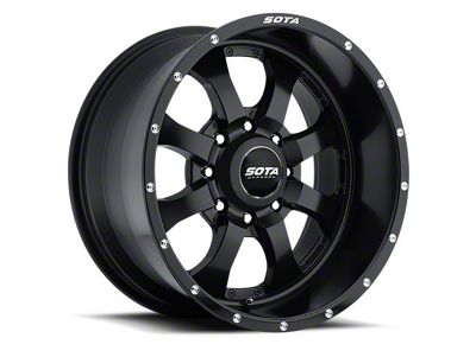 SOTA Off Road NOVAKANE 8 Stealth Black 8-Lug Wheel - 20x9 (06-08 RAM 1500 Mega Cab)
