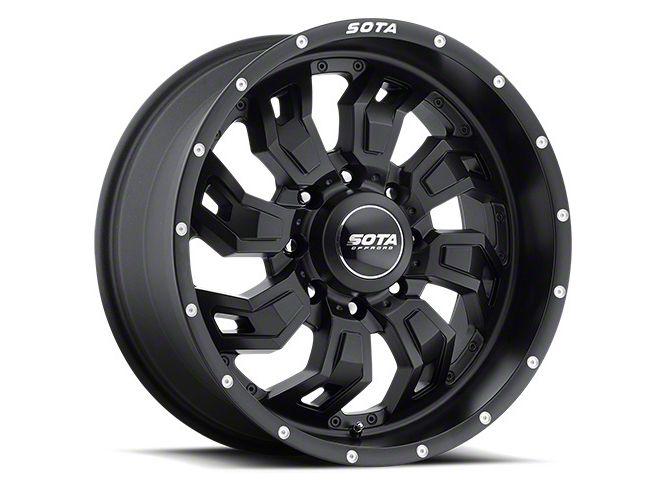 SOTA Off Road S.C.A.R. 8 Stealth Black 8-Lug Wheel - 20x10 (06-08 RAM 1500 Mega Cab)