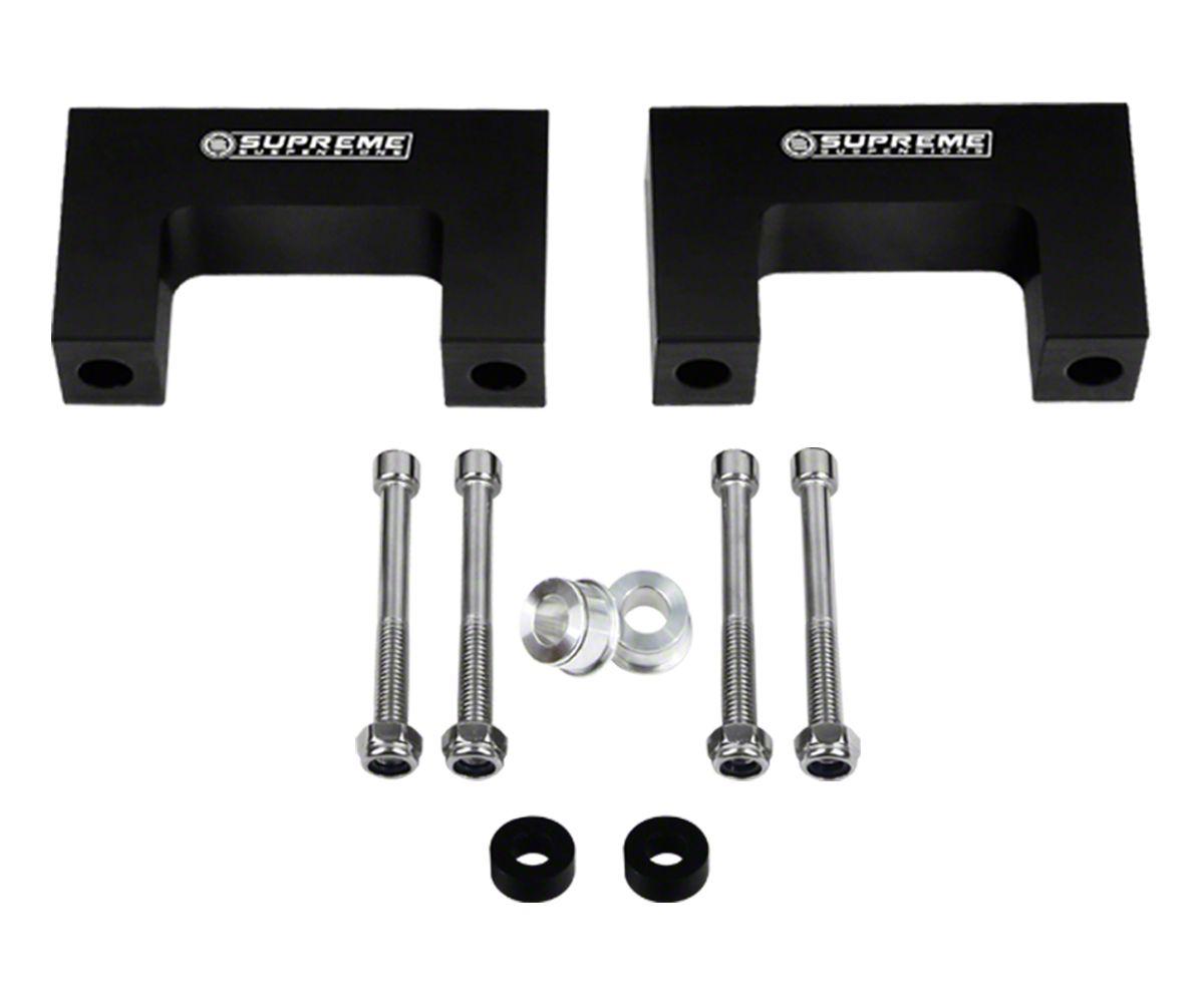 Supreme Suspensions 2 in. Pro Billet Front Shock Lift Spacers (02-08 2WD RAM 1500, Excluding Mega Cab)