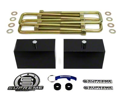 Supreme Suspensions 3 in. Pro Billet Rear Lift Blocks (02-08 RAM 1500, Excluding Mega Cab)