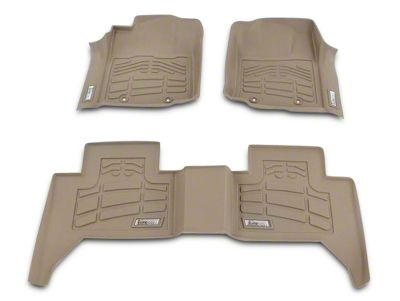 Wade Sure-Fit 2nd Row Floor Liner - Tan (02-08 4WD RAM 1500 Quad Cab)