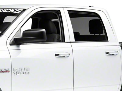 Black Horse Off Road Door Handle Covers - Chrome (09-18 RAM 1500)