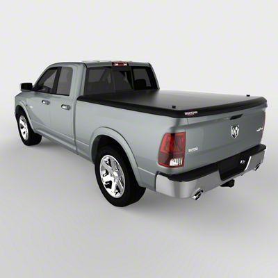 UnderCover Classic Hinged Tonneau Cover - Black Textured (09-18 RAM 1500 w/ 5.7 ft. & 6.4 ft. Box & w/o RAM Box)