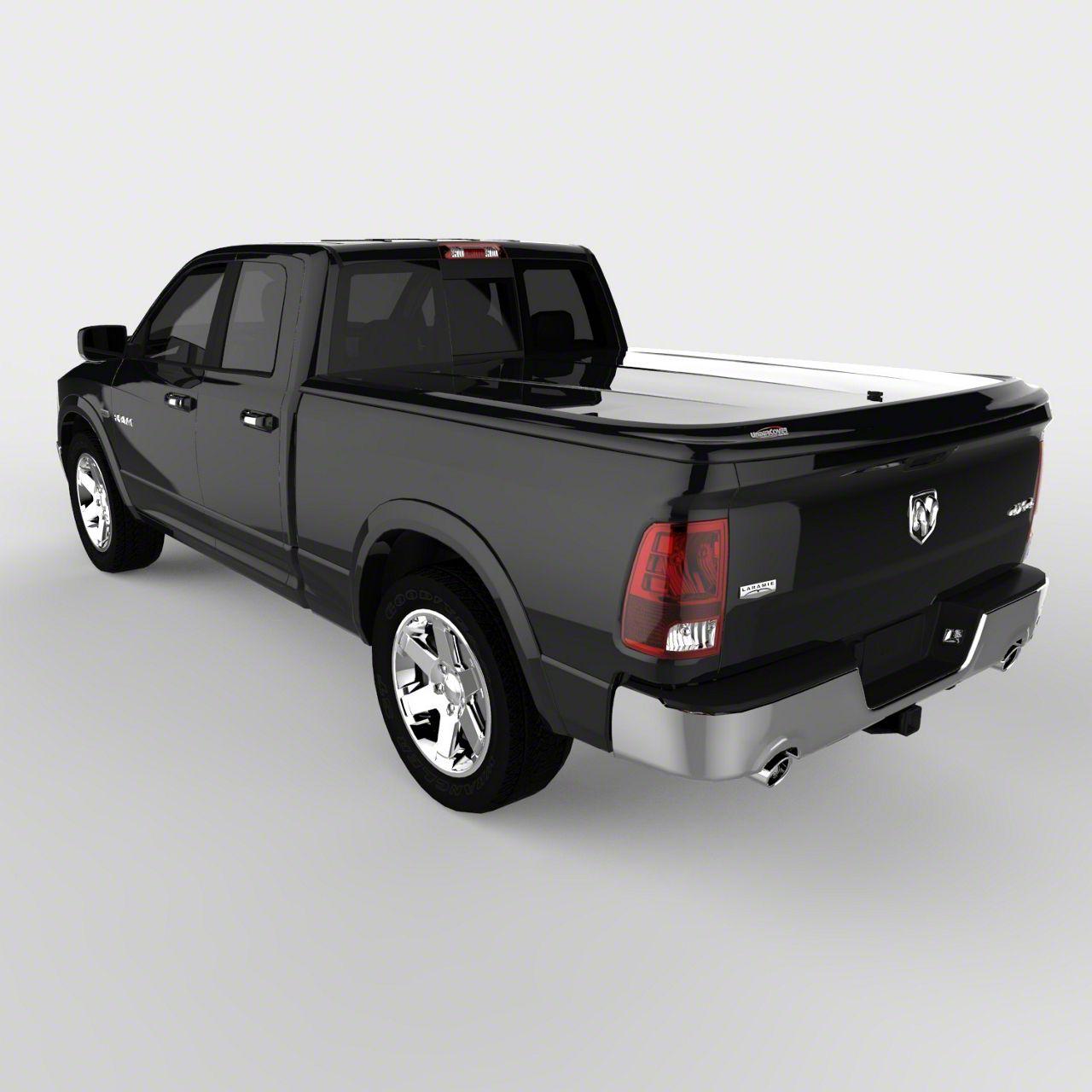 UnderCover SE Hinged Tonneau Cover - Black Textured (09-18 RAM 1500 w/ 5.7 ft. & 6.4 ft. Box & w/o RAM Box)