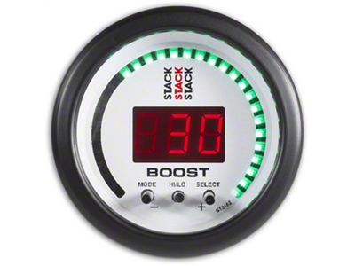 Auto Meter Stack Boost Controller Gauge - White (02-19 RAM 1500)