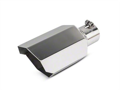 Barricade 5 in. Stagger Cut Exhaust Tip - Polished - 2.75 in. Connection (02-19 RAM 1500)