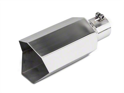 Barricade 5 in. Big Mouth Exhaust Tip - Polished - 3.0 in. Connection (02-19 RAM 1500)