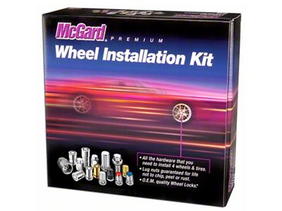 McGard Chrome 5-Lug Wheel Installation Lug Nut Kit - 14mm x 1.5 in. (12-18 RAM 1500)