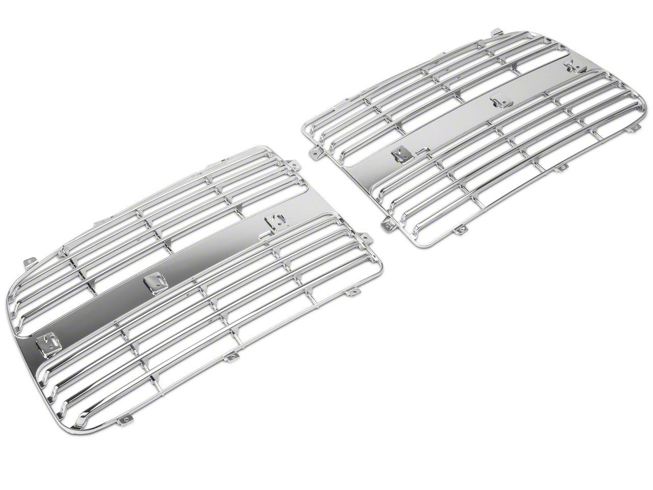 SpeedForm Upper Replacement Grille Inserts - Chrome (02-05 RAM 1500)