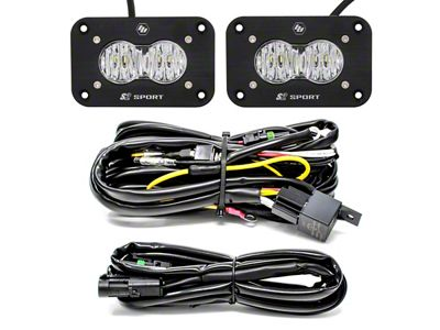 Baja Designs S2 Sport Flush Mount LED Light Backup Kit - Wide Cornerning Beam