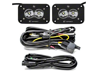 Baja Designs S2 Sport Flush Mount LED Light Backup Kit - Flood Beam