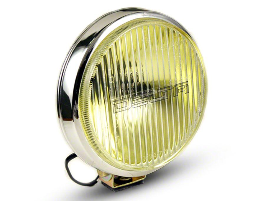 Delta 6 in. 100 Series Chrome Thinline Amber Fog Light Kit - Pair