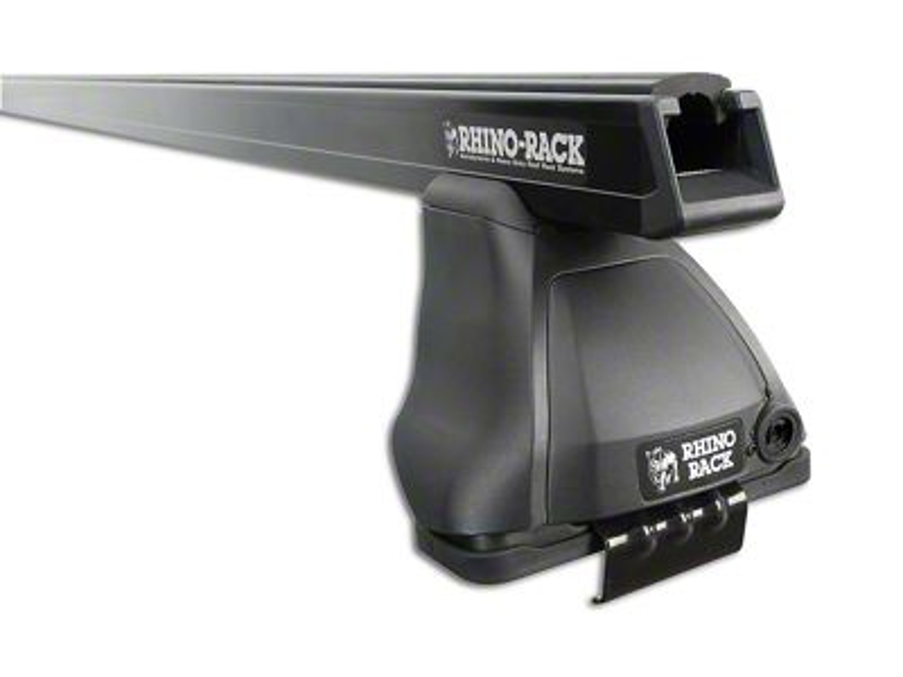 Rhino-Rack Heavy Duty 2500 2-Bar Roof Rack - Black (09-18 RAM 1500 Quad Cab, Crew Cab)