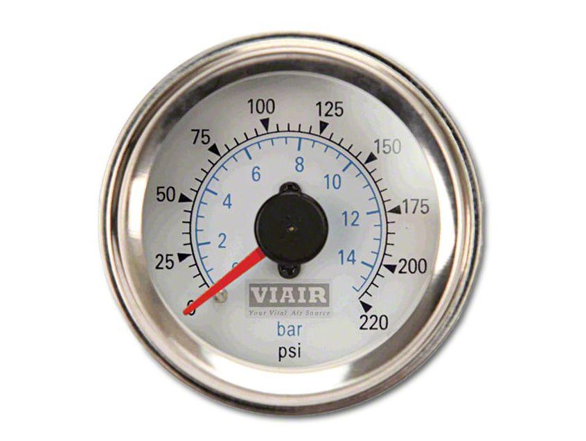 Viair Dual Needle Air Pressure Gauge - White Face (02-19 RAM 1500)