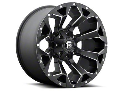 Fuel Wheels Assault Black Milled 5-Lug Wheel - 22x12 (02-18 RAM 1500, Excluding Mega Cab)