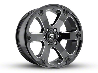 Fuel Wheels Beast Gloss Black Milled 5-Lug Wheel - 20x9 (02-18 RAM 1500, Excluding Mega Cab)