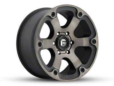 Fuel Wheels Beast Matte Black Machined 5-Lug Wheel - 18x9 (02-18 RAM 1500, Excluding Mega Cab)