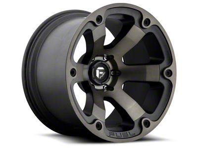Fuel Wheels Beast Matte Black Machined 5-Lug Wheel - 22x12 (02-18 RAM 1500, Excluding Mega Cab)