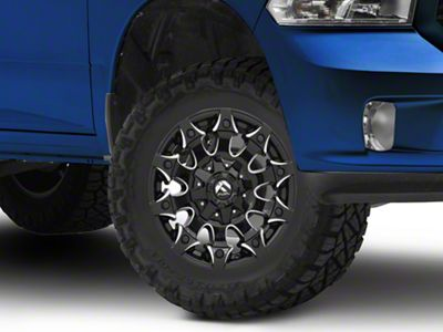 Fuel Wheels Battle Axe Gloss Black Milled 5-Lug Wheel - 17x9 (02-18 RAM 1500, Excluding Mega Cab)