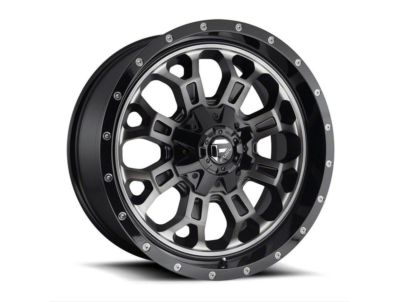 Fuel Wheels Crush Matte Black Machined 5-Lug Wheel - 20x10 (02-18 RAM 1500, Excluding Mega Cab)