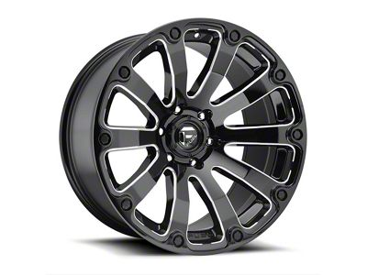 Fuel Wheels Diesel Gloss Black Milled 5-Lug Wheel - 20x9 (02-18 RAM 1500, Excluding Mega Cab)