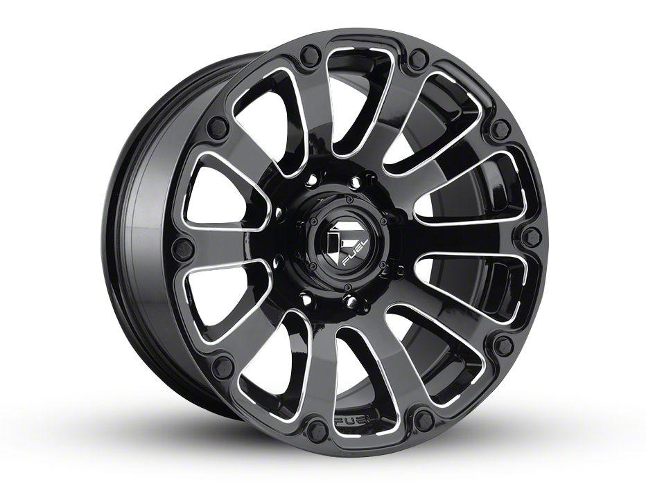 Fuel Wheels Diesel Gloss Black Milled 5-Lug Wheel - 20x10 (02-18 RAM 1500, Excluding Mega Cab)
