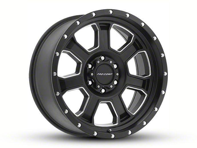 Pro Comp Sledge Satin Black Milled 5-Lug Wheel - 20x9 (02-18 RAM 1500, Excluding Mega Cab)