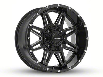 Pro Comp Wheels Blockade Gloss Black Milled 8-Lug Wheel - 20x9.5 (06-08 RAM 1500 Mega Cab)