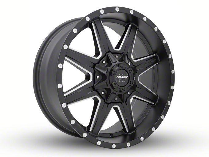 Pro Comp Quick 8 Satin Black Milled 8-Lug Wheel - 20x9 (06-08 RAM 1500 Mega Cab)