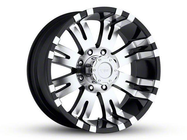 Pro Comp Series 8101 Gloss Black Machined 8-Lug Wheel - 17x9 (06-08 RAM 1500 Mega Cab)