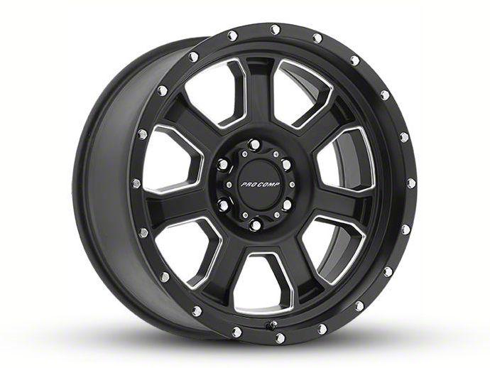Pro Comp Sledge Satin Black Milled 8-Lug Wheel - 20x9 (06-08 RAM 1500 Mega Cab)