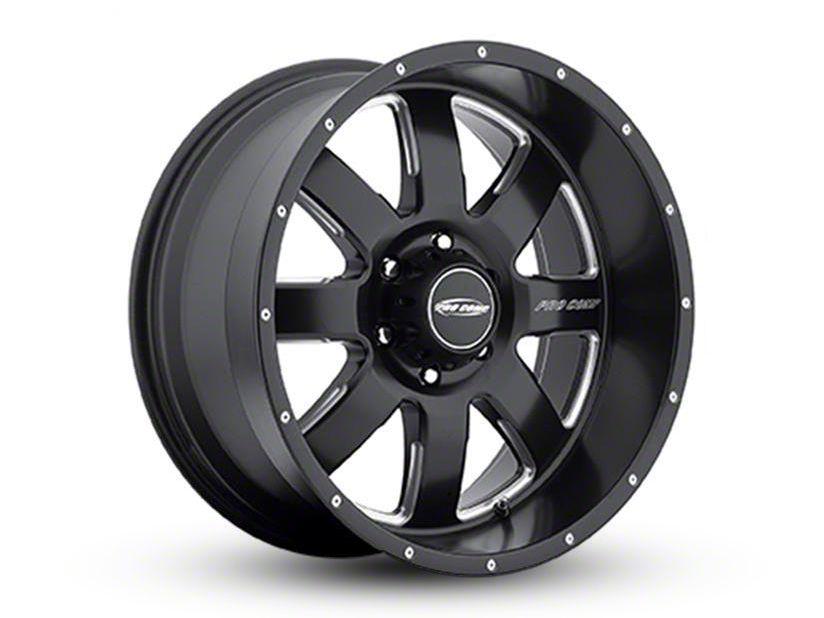 Pro Comp Vapor Satin Black Milled 8-Lug Wheel - 17x9 (06-08 RAM 1500 Mega Cab)