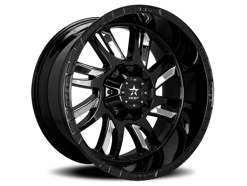 RBP 69R Swat Black w/ Chrome Inserts 5-Lug Wheel - 20x12 (02-18 RAM 1500, Excluding Mega Cab)